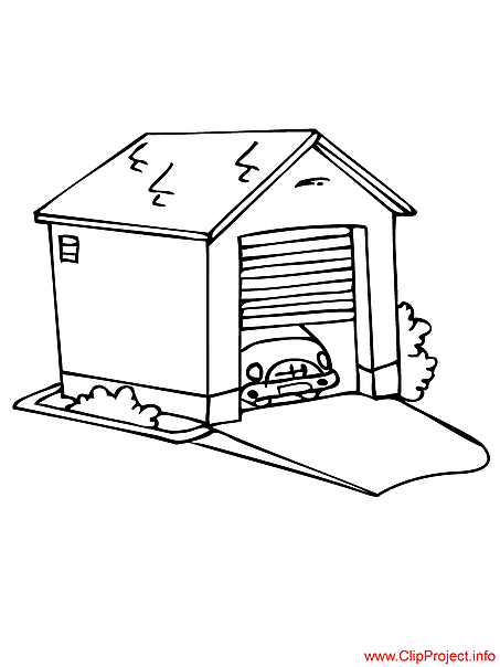 garage Colouring Pages
