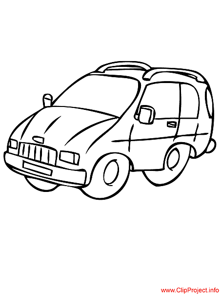 free coloring pages of minivan