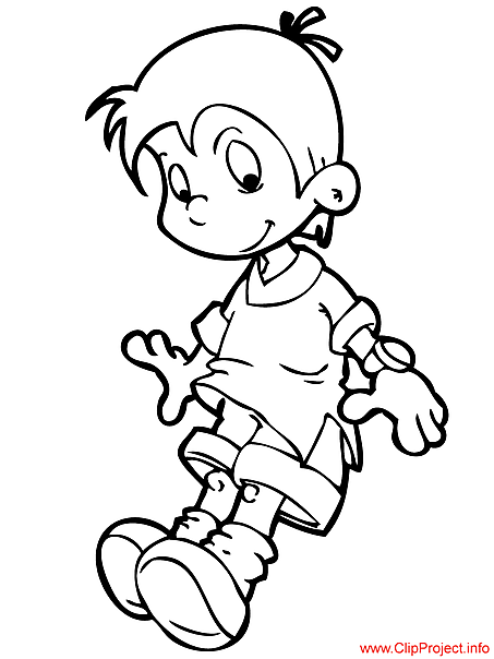 Cartoon Boy Colouring Pages