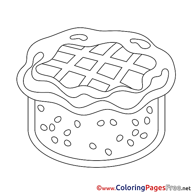 cake food coloring pages - photo#47