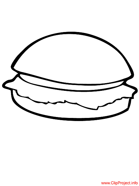 hamburger bun coloring page - photo #38