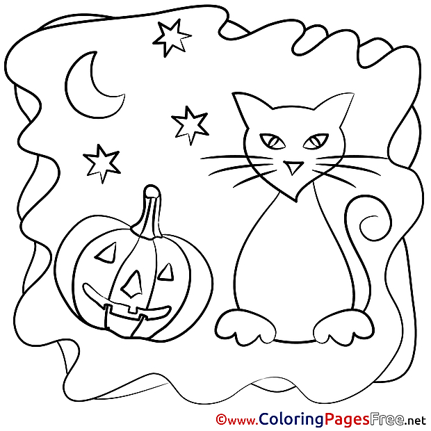 holloween moon coloring pages - photo#17