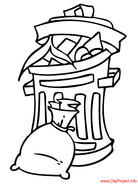 trash can coloring pages - photo#35