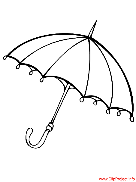 Free coloring pages of umbrella