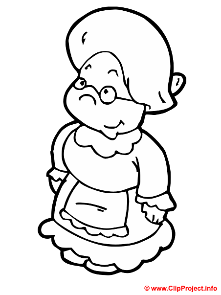 Grandmother coloring page for free