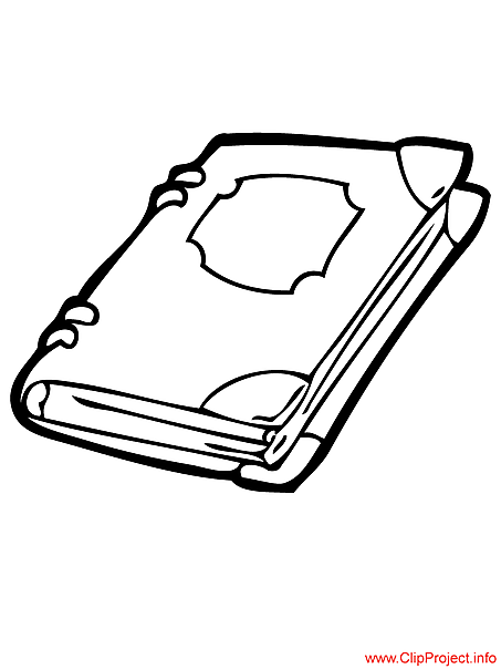 Title of Coloring Sheet: Book coloring page for free
