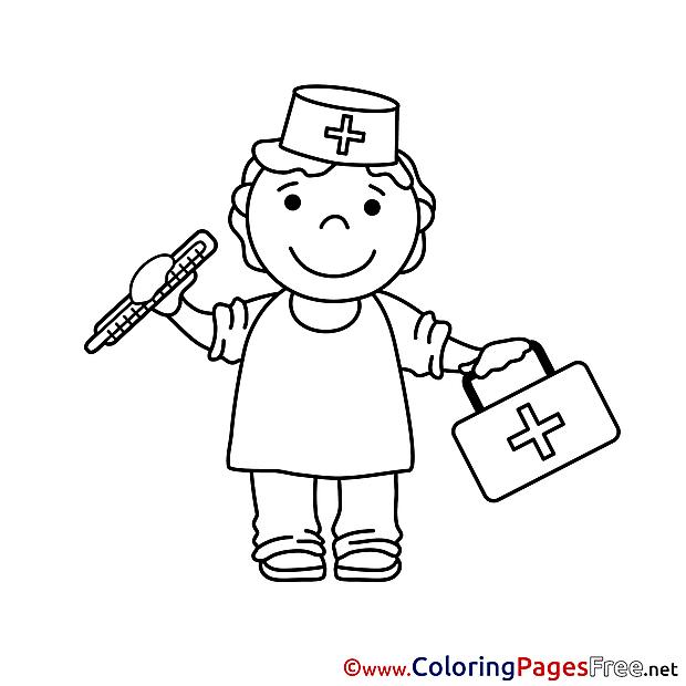 Health worker download printable coloring pages for Free coloring pages health