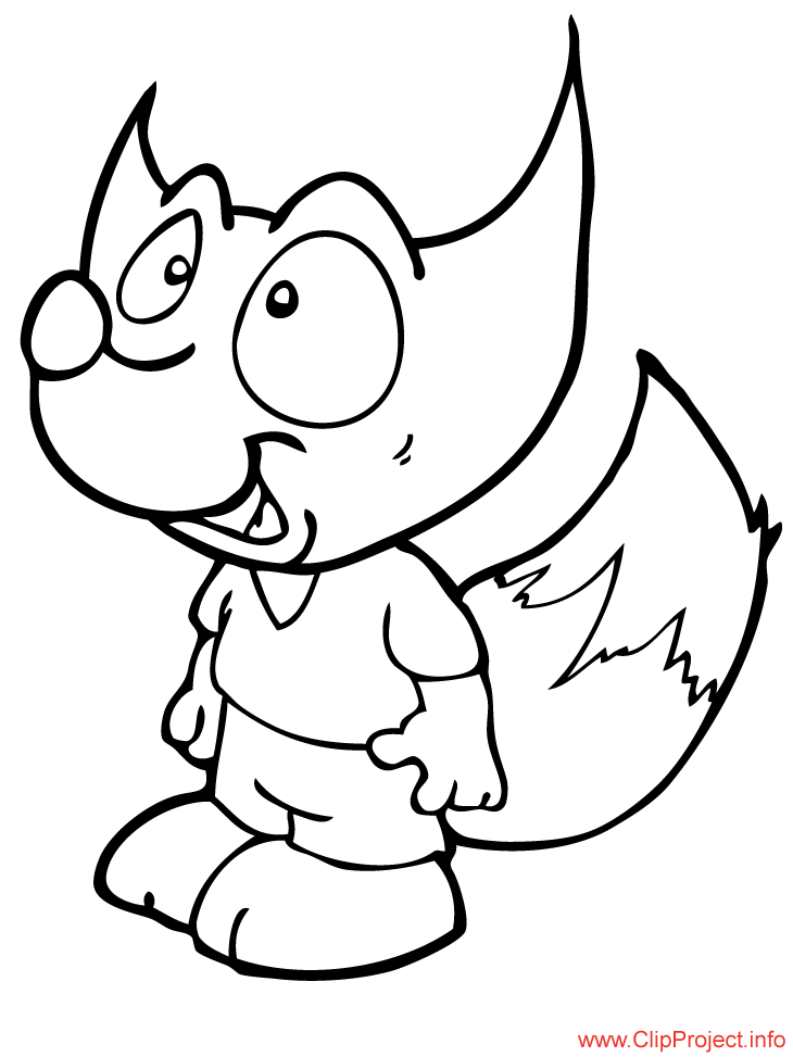 fox coloring pages for free - photo#24