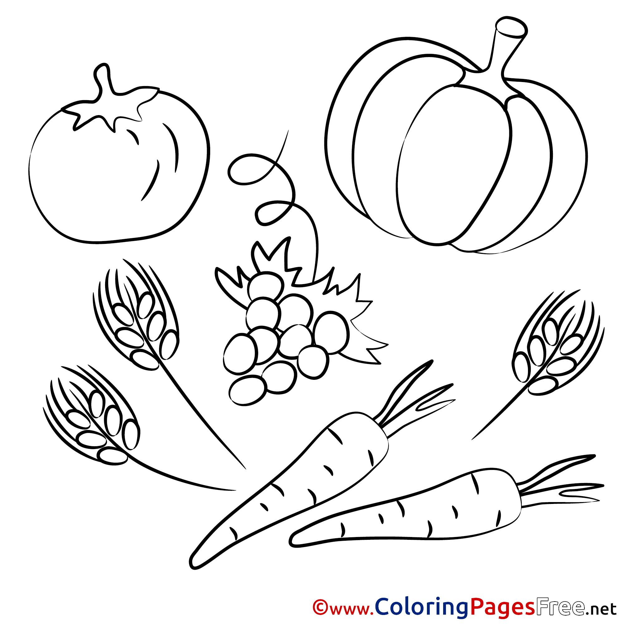 Vegetables Kids Download Coloring Pages