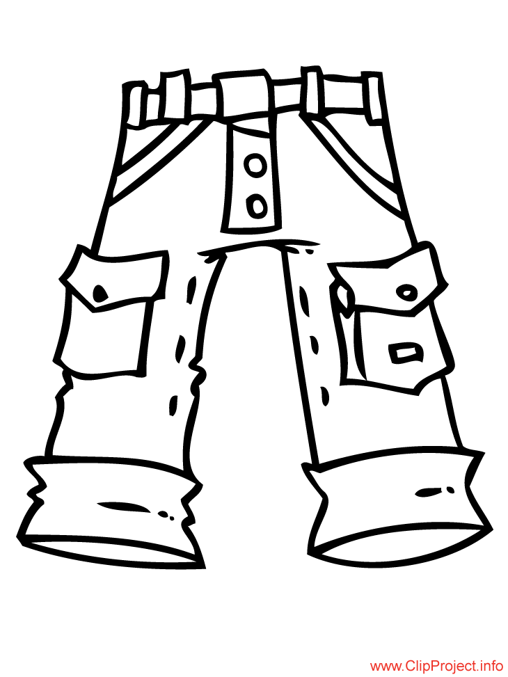Trousers coloring pages