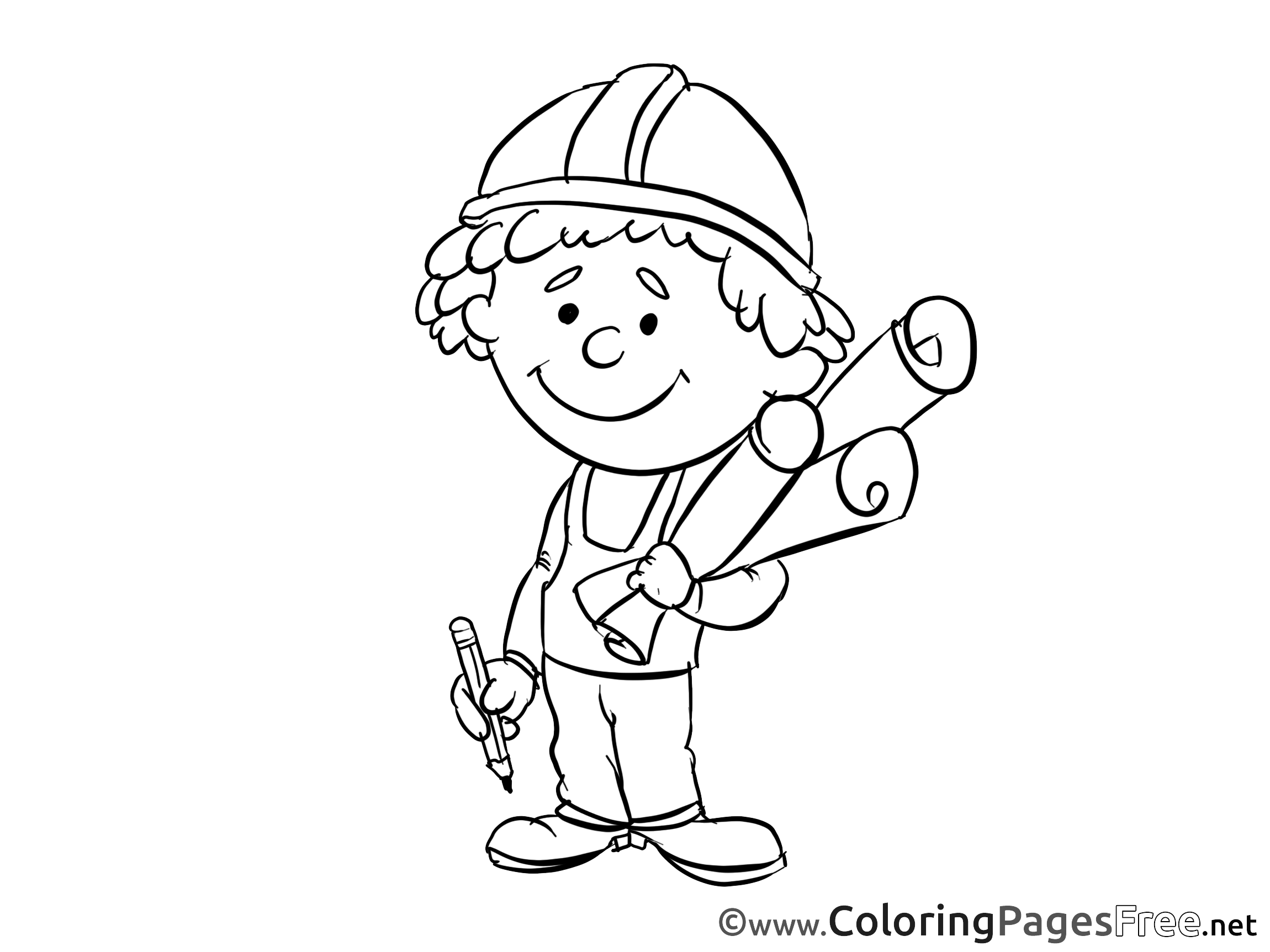 Coloring Book For Engineers : For Children free Coloring Pages Engineer