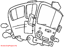 Bus coloring page for free