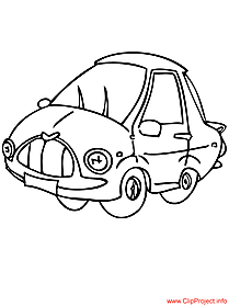 Car coloring page for free