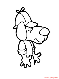 Dog coloring sheet