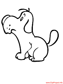 Dog colouring page for free