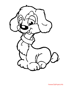 Dog free coloring sheet
