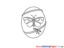 butterfly easter egg coloring pages - photo#17