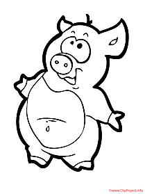 Pig printable coloring page farm