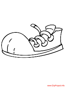 Sports shoe image to coloring