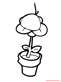 Flower printable coloring page