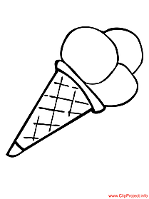 Ice-cream coloring page for free