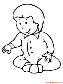 Baby cartoon image to coloring