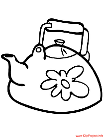 Teapot colouring page