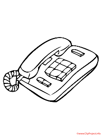Telephone printable coloring page