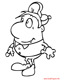 Coloring picture for free cartoon man