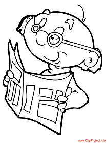 Grandfather coloring page for free
