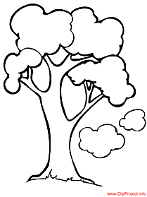Cartoon tree picture for free