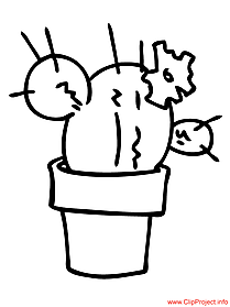 Coloring sheet cactus plants