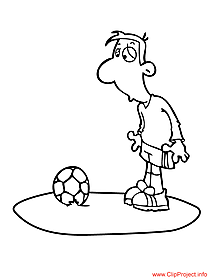 Football player coloring page free