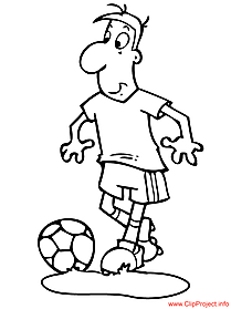 Soccer player image to coloring