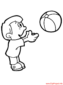 Ball coloring page for free