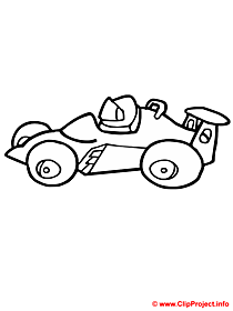 Racing car for coloring page