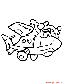 Aircraft coloring sheet