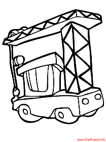 Building crane image for coloring