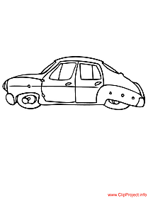 Car free coloring sheet for free