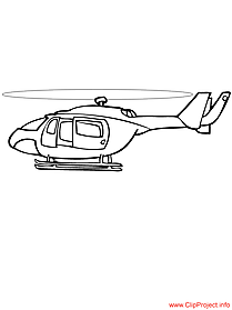 Helicopter coloring free