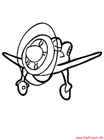 Plane coloring page for free