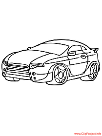 Sportcar image to coloring