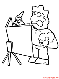 Artist coloring sheet - work coloring pages