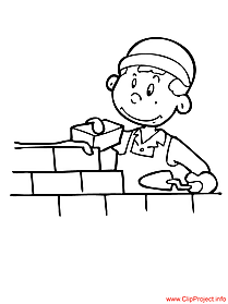 Builder coloring sheet for free