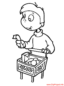 Customer cartoon - coloring pages for free