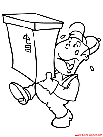 Postman coloring page