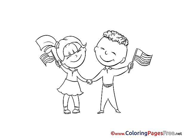 Fourth of July download printable Coloring Pages