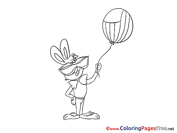 Hare 4th of July for Children free Coloring Pages