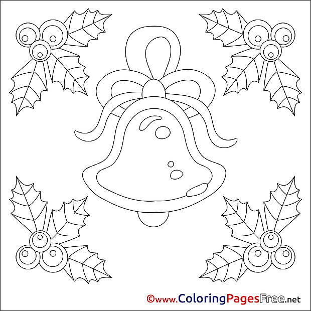 Bell Coloring Pages Advent for free