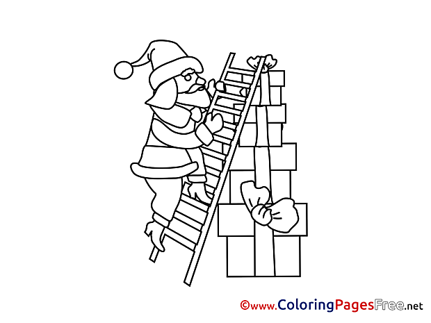 Gift free Advent Coloring Sheets